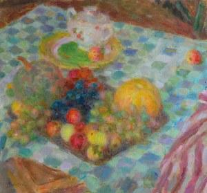 Mieszko JABŁOŃSKI (1892-1965), Martwa natura z owocami i cukiernicą