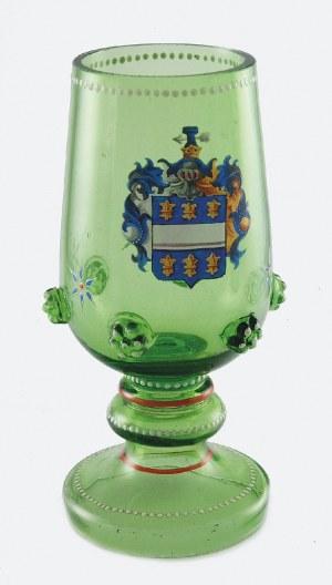 Huta Szkła PETERSDORF (?), Friedrich Willhelm, Pucharek z herbem Wierzbna vel Grynfar