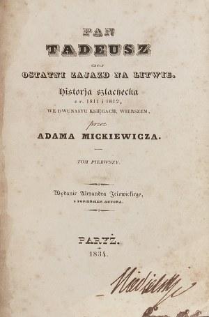 Adam MICKIEWICZ (1798-1855), Pan Tadeusz