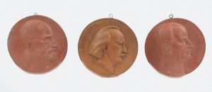 FRANCISZEK (FRANÇOIS) BLACK (1881-1959), Zestaw trzech medalionów portretowych: Ignacego Paderewskiego, Henryka Sienkiewicza i Władysława Sikorskiego