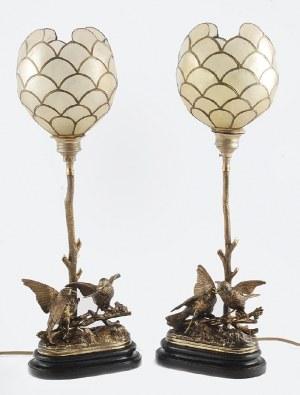 Para lamp elektrycznych z ptaszkami