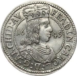 Austria, Ferdynand Karol 1632 - 1662, 3 krajcary 1649, Hall.
