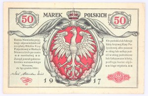 Generalne Gubernatorstwo Warszawskie, 50 marek polskich 9.12.1916, jenerał, seria A, Berlin.