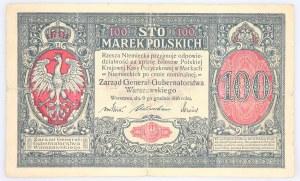 Generalne Gubernatorstwo Warszawskie, 100 marek polskich 9.12.1916, Generał, seria A, Berlin.