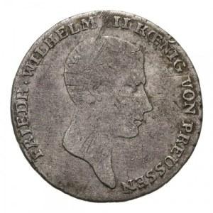 Śląsk, Fryderyk Wilhelm III 1797-1840, 1/6 talara 1817 B, Wrocław