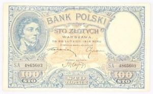 II Rzeczpospolita 1919 - 1939, 100 ZŁOTYCH, 28.02.1919.
