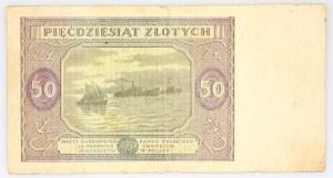 Polska, PRL 1944 - 1989, 50 ZŁOTYCH 15.05.1946, seria P, Warszawa.