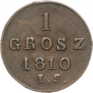 Księstwo Warszawskie 1807-1815, 1 grosz 1810 I.S. Warszawa