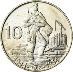 10 koron 1954, Czechosłowacja, PROOF