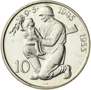 10 koron 1955, Czechosłowacja, PROOF