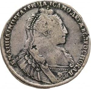 rubel 1734, Anna, 1730-1740, Rosja