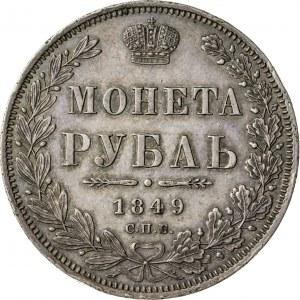 rubel 1849, Mikołaj I, 1825-1855, Petersburg, Rosja