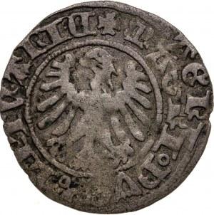 półgrosz, Aleksander Jagiellończyk, 1501-1506, Wilno, destrukt