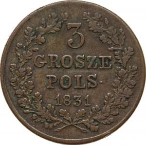 3 grosze 1831, Powstanie Listopadowe, kropka po POLS