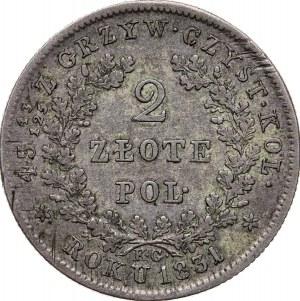 2 zł 1831, Powstanie Listopadowe