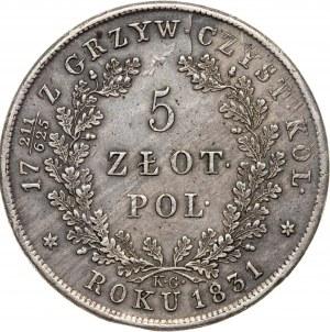 5 zł 1831, Powstanie Listopadowe