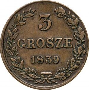 3 grosze 1839, Królestwo Polskie