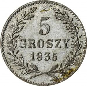 5 gr 1835, Wolne Miasto Kraków