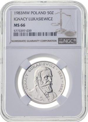 50 zł 1983, PRL, MS66, 2 nota NGC (tylko 1 wyżej)