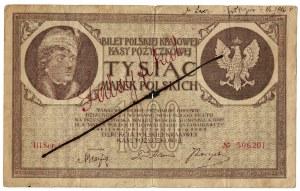 1000 marek polskich 1919, FALSYFIKAT Z EPOKI