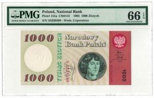 1 000 zł 1965, PRL, Kopernik, seria S, EFQ 66