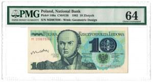 10 zł 1982, PRL, autograf projektanta - Andrzeja Heidricha