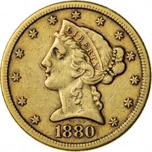 5 dolarów, 1880, S (San Francisco)