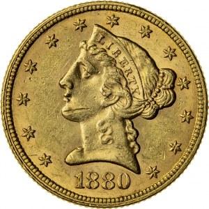 5 dolarów, 1880, (Filadelfia)