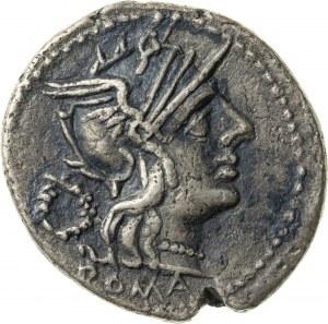 srebrny denar, 128 r. p.n.e., T. Cloulius (lub Cloelius), Republika Rzymska
