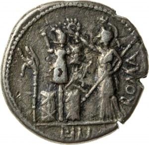denar suberat (platerowany), 119 r. p.n.e., M. Furius L. f(ilius) Philus, Republika Rzymska