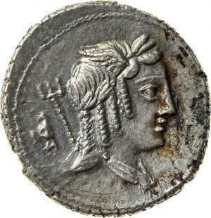 srebrny denar, 85 r. p.n.e., L. Julius Bursio, Republika Rzymska