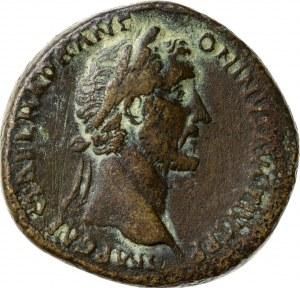 brązowy (orichalcum) sesterc wybity w Rzymie, 151/2, Antoninus Pius (138-161), Cesarstwo Rzymskie