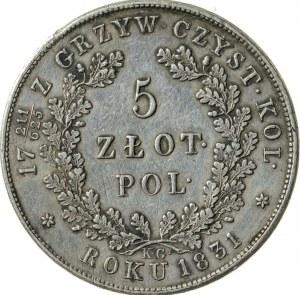 5 zł, 1831, Powstanie Listopadowe