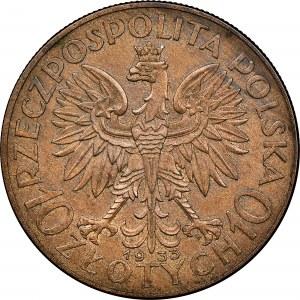 10 zł 1933, PRÓBA, RRR, MS 64 BN