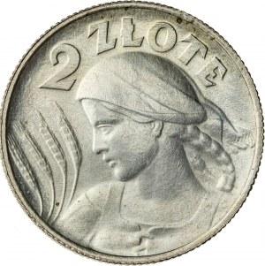 2 zł, 1924, II RP, kobieta z kłosami, literka H