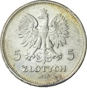 5 zł, 1930, II RP, Nike