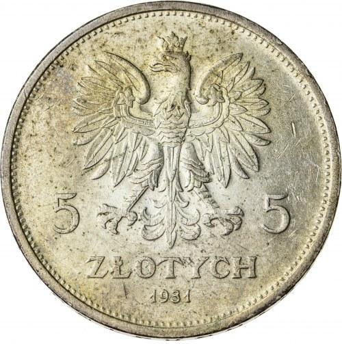 5 zł, 1931, II RP, Nike, rzadki rocznik