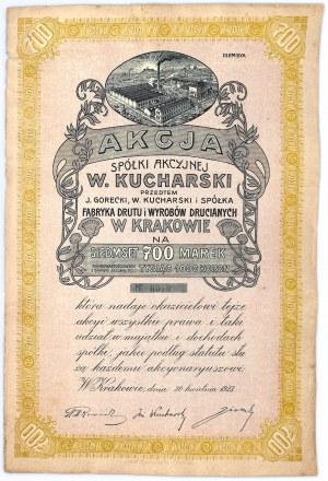 J.Górecki, W.Kucharski i S-ka Fabryka Wyrobów Metalowych w Krakowie, Em.3, 700 koron 1923