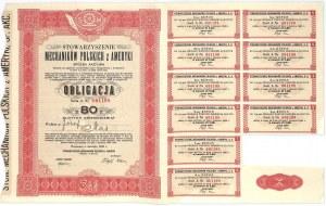 Obligacja Stowarzyszenia Mechaników Polskich z Ameryki S.A. w Warszawie, 80 złotych 1938