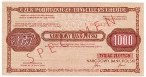 NBP, Czek na 1.000zł SPECIMEN