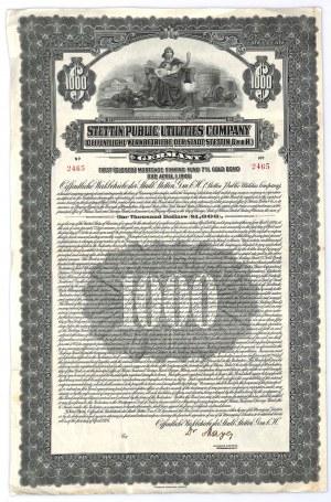 Stettin Public Utilities Company, 1.000 dollars 1926