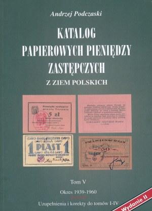 Podczaski Andrzej - Emergency money catalogue Volume V - RARE