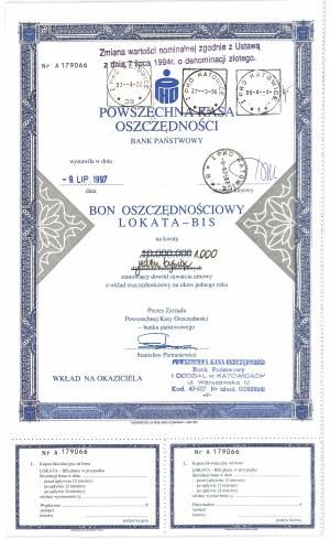 PKO, Bon oszczędnościowy na 1.000 złotych 1997 - rzadkość