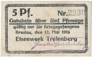 Obóz, Fabryka Żelaza Trelenberg (Wrocław), 5 fenigów 1916