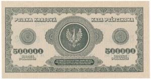 500.000 marek 1923 - AN - 7 cyfr - PIĘKNA I BARDZO RZADKA
