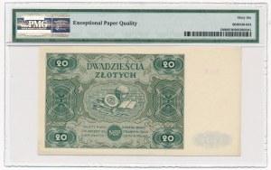 20 złotych 1947 - B - PMG 66 EPQ