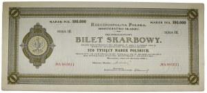 Bilet Skarbowy, Serja III - 100.000 marek 1922