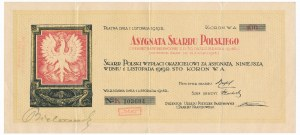 Asygnata Skarbu Polskiego, 100 koron 1918