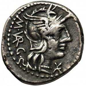 Republika Rzymska, M. Vargunteius (130 pne.), Denar