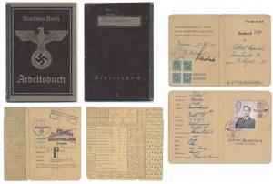 Arbeitsbuch, Auweis and Spinnstofkarte issued for Nikiel Ladislaus